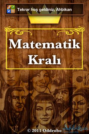 Matematik Kralı giriş ekranı