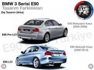 E90 Makyaj Farklılıkları Arka