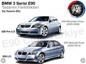 E90 Makyaj Farklılıkları Ön